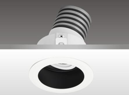 畫廊照明燈設計_天花射燈HK62220_防眩光反射罩