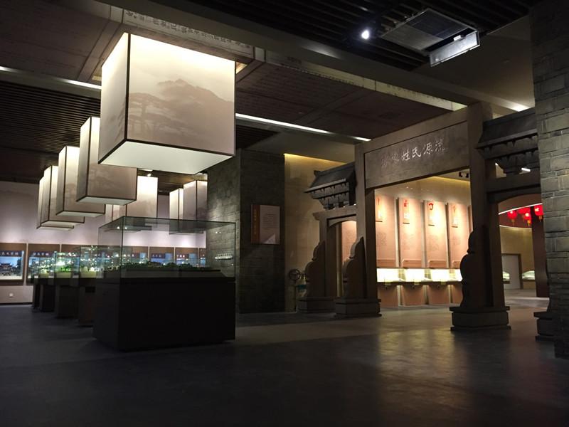 客家族谱博物馆照明方案——圆晕光效里的家族