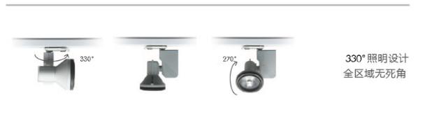 LED导轨COB射灯——330°照明设计全区域无死角