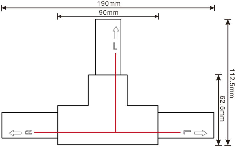 方型导轨T接(L)