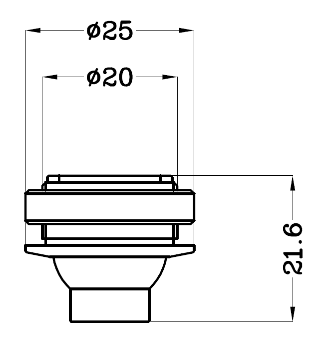 H4101专业射灯灯具尺寸图