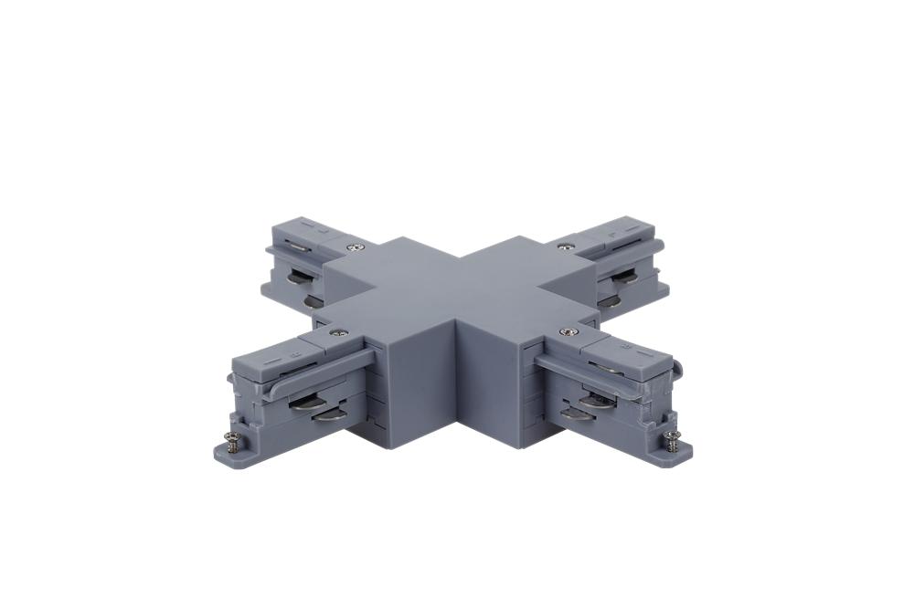 方形X接驳器_led轨道灯四线导轨接头