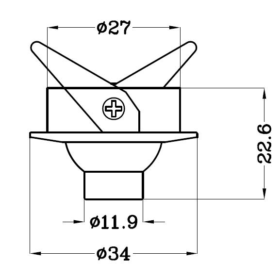 H4102嵌入式led小射燈尺寸圖