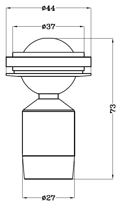 可调焦柜内小射灯H4103尺寸图