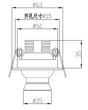 led柜小射燈H4105尺寸圖