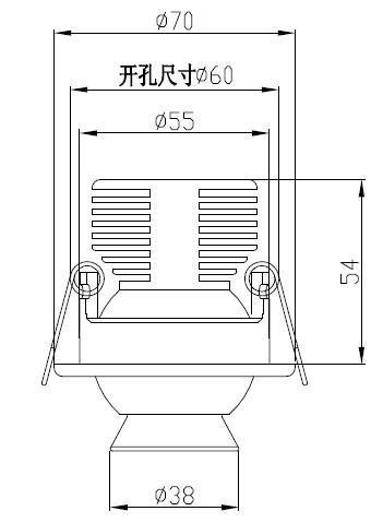 柜台小射灯H4110尺寸图
