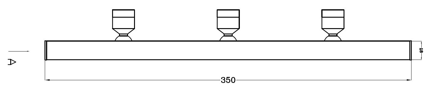 展柜立杆射灯 H6302尺寸图