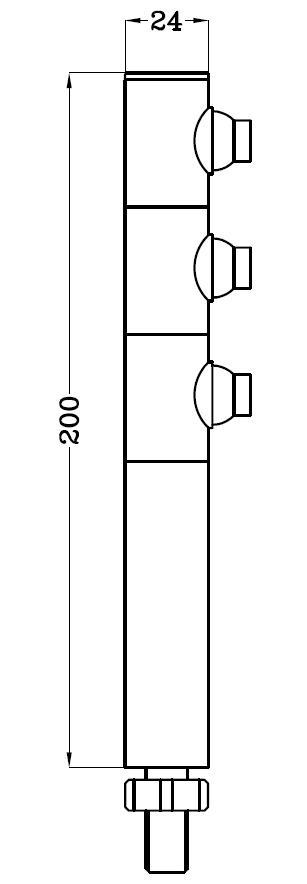 3*1W大功率LED柜台灯 H6303尺寸图