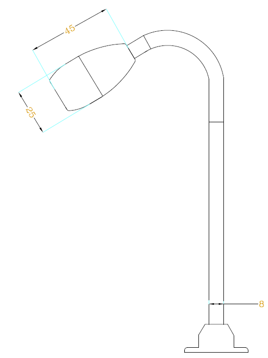 led單頭射燈H6306尺寸