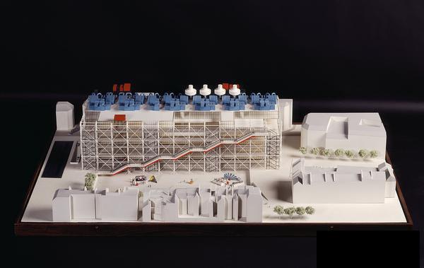 巴黎蓬皮杜藝術中心研究模型
