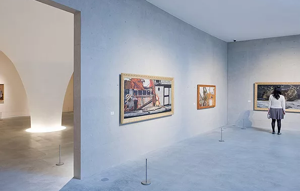 美术馆洗墙照明