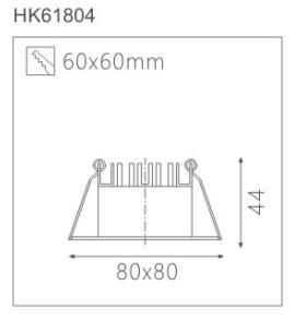 天花射燈HK61804截面圖