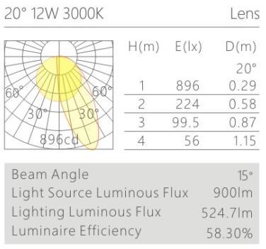 天花射燈HK62534配光曲線