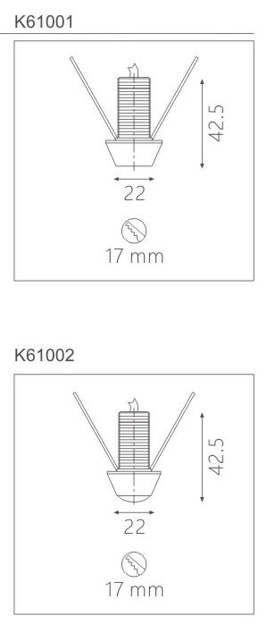 柜內射燈K61001截面圖