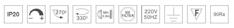 H3112led博物導軌燈具規格參數