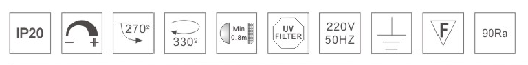 H3112led博物导轨灯具规格参数