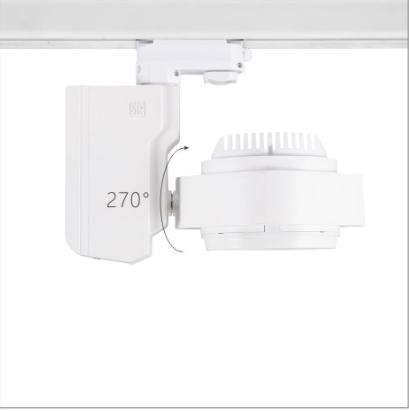 H3112led博物導軌燈具硬件旋轉角度
