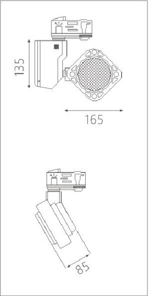 H3112Aled博物导轨灯具尺寸图