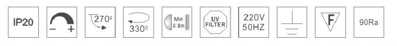 H3119led博物導軌燈具規格參數