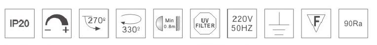H3215led博物导轨灯具规格参数