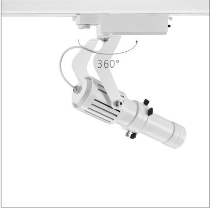 H3215led博物导轨灯具旋转角度
