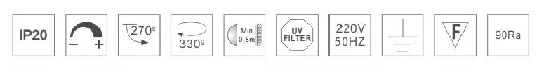 H3210led博物导轨灯具规格参数