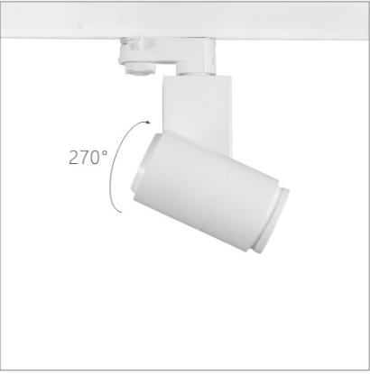 H3210led博物导轨灯具旋转角度