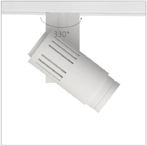 H3220led博物導軌燈具旋轉角度