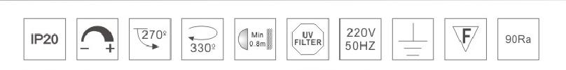 H3220led博物导轨灯具规格参数