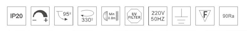 H3225led博物導軌燈具規格參數
