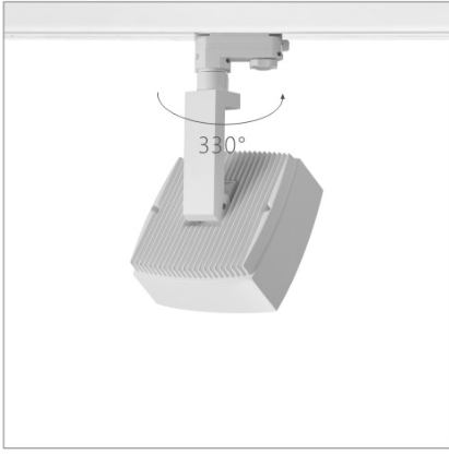 H3225led博物导轨灯具旋转角度