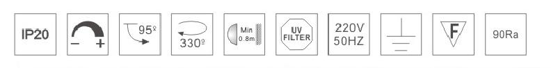 HK620015led博物導軌燈具規格參數
