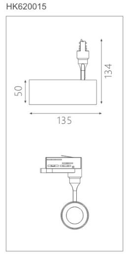 HK620015led博物導軌燈具尺寸圖